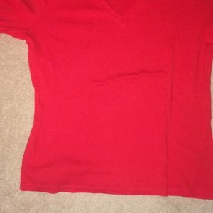 Lauren Red V Neck T shirt